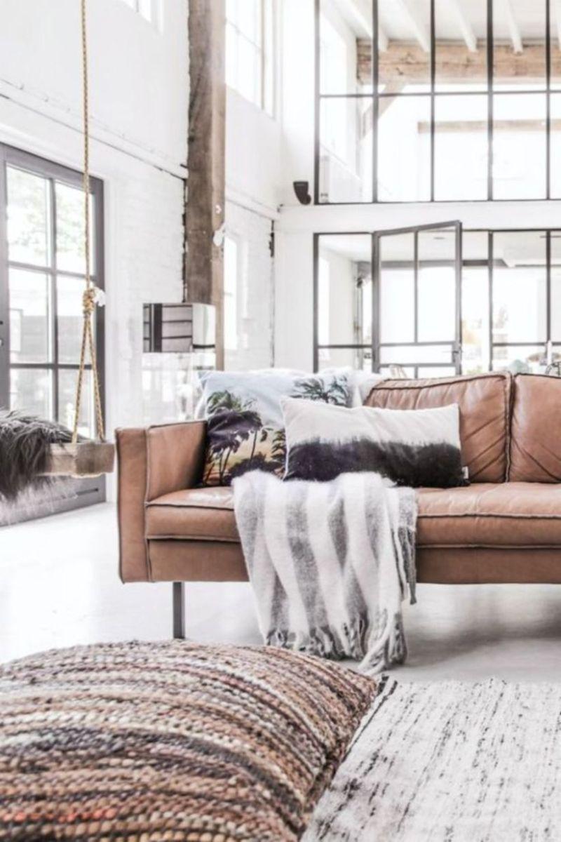 Stunning modern leather sofa design for living room (47)