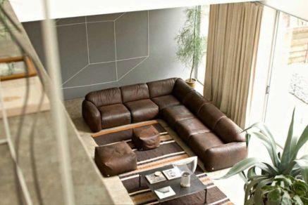 Stunning modern leather sofa design for living room (48)