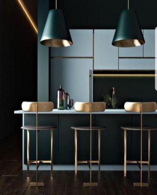 Stylish luxury black kitchen design ideas (14)