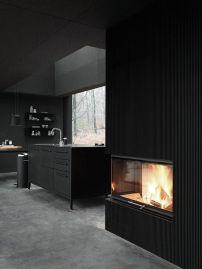 Stylish luxury black kitchen design ideas (17)