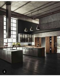 Stylish luxury black kitchen design ideas (18)