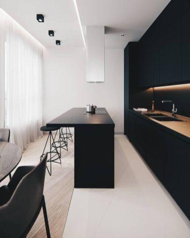 Stylish luxury black kitchen design ideas (29)