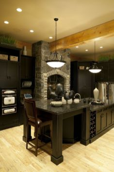 Stylish luxury black kitchen design ideas (4)