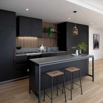 Stylish luxury black kitchen design ideas (45)