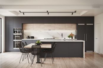 Stylish luxury black kitchen design ideas (6)