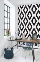 Totally inspiring black and white geometric wallpaper ideas for bedroom (28)