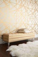 Totally inspiring black and white geometric wallpaper ideas for bedroom (30)
