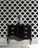 Totally inspiring black and white geometric wallpaper ideas for bedroom (42)