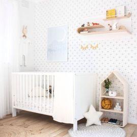 Totally inspiring black and white geometric wallpaper ideas for bedroom (9)