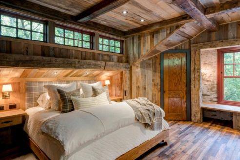 Amazing rustic mountain farmhouse decorating ideas (16)