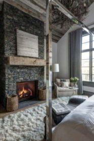 Amazing rustic mountain farmhouse decorating ideas (2)
