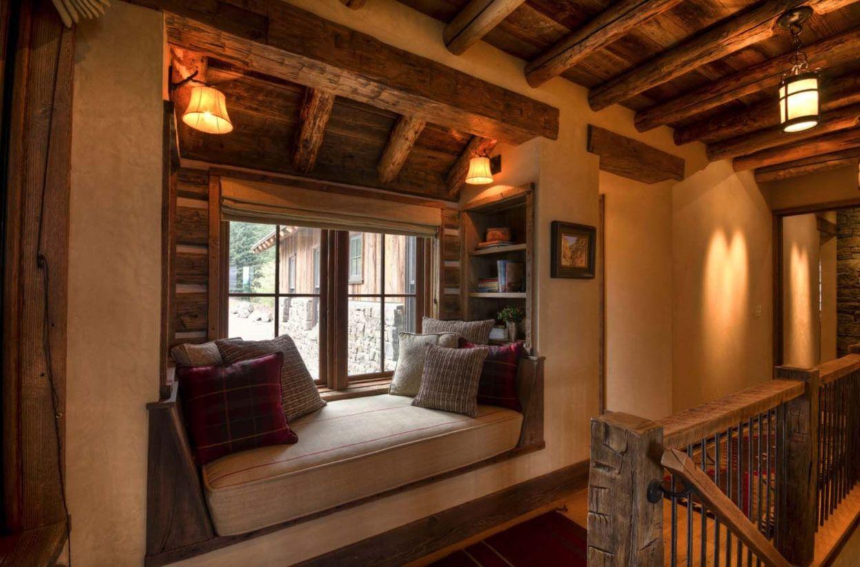 46 Amazing Rustic Mountain Farmhouse Decorating Ideas
