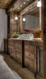 Amazing rustic mountain farmhouse decorating ideas (37)