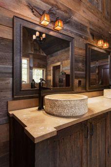 Amazing rustic mountain farmhouse decorating ideas (46)