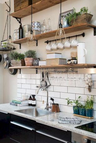 Beautiful rustic kitchen cabinet ideas (27)