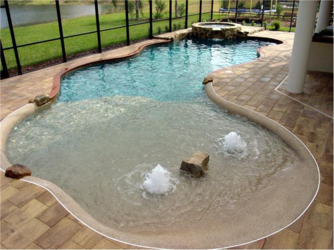 Beautiful small outdoor inground pools design ideas 07
