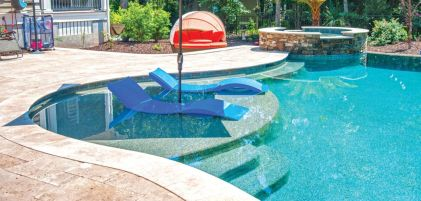 Beautiful small outdoor inground pools design ideas 12