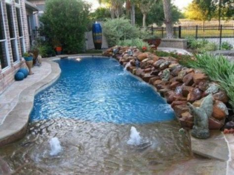 Beautiful small outdoor inground pools design ideas 13