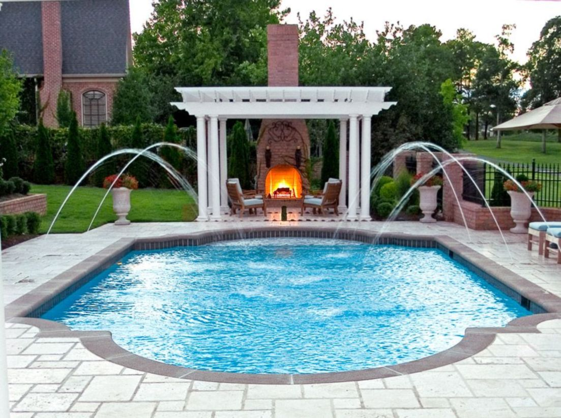 Beautiful small outdoor inground pools design ideas 20