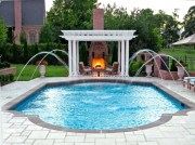 Beautiful small outdoor inground pools design ideas 20