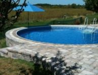 Beautiful small outdoor inground pools design ideas 23