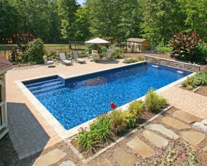 Beautiful small outdoor inground pools design ideas 28