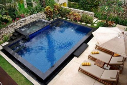 Beautiful small outdoor inground pools design ideas 38