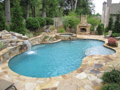 Beautiful small outdoor inground pools design ideas 41