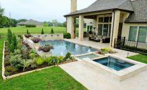Beautiful small outdoor inground pools design ideas 44
