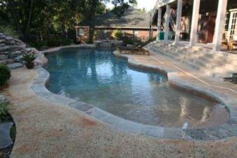 Beautiful small outdoor inground pools design ideas 47