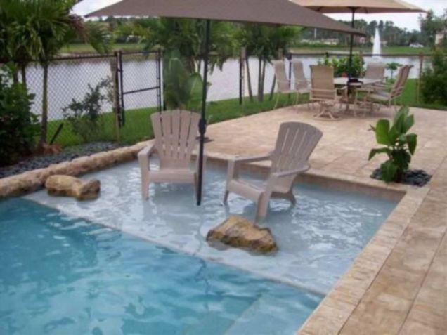 Beautiful small outdoor inground pools design ideas 48