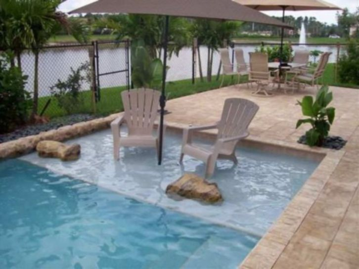 Beautiful small outdoor inground pools design ideas 48