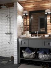 Beautiful urban farmhouse master bathroom remodel ideas (15)