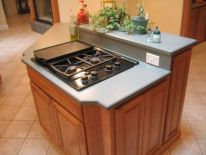Creative kitchen islands stove top makeover ideas (32)