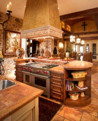 Creative kitchen islands stove top makeover ideas (36)
