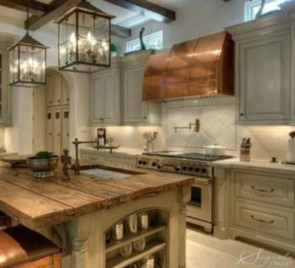 Creative kitchen islands stove top makeover ideas (6)
