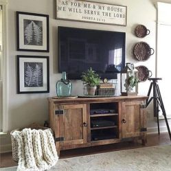 Elegant farmhouse decor ideas for your home (15)