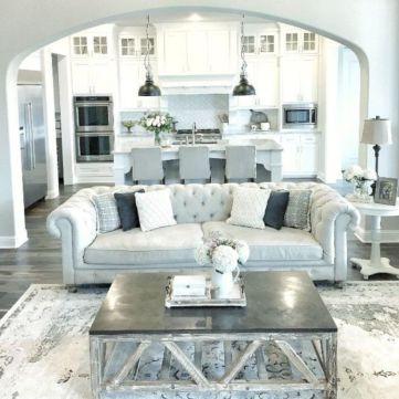 Elegant farmhouse living room design decor ideas (12)