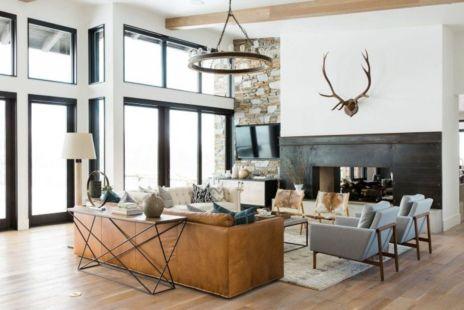 Elegant farmhouse living room design decor ideas (34)