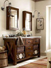 Gorgeous farmhouse master bathroom decorating ideas (7)