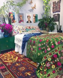Inspired boho bedroom decorating ideas on a budget 05
