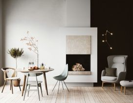 Luxury scandinavian taste dining room ideas (14)