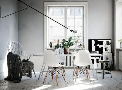 Luxury scandinavian taste dining room ideas (17)