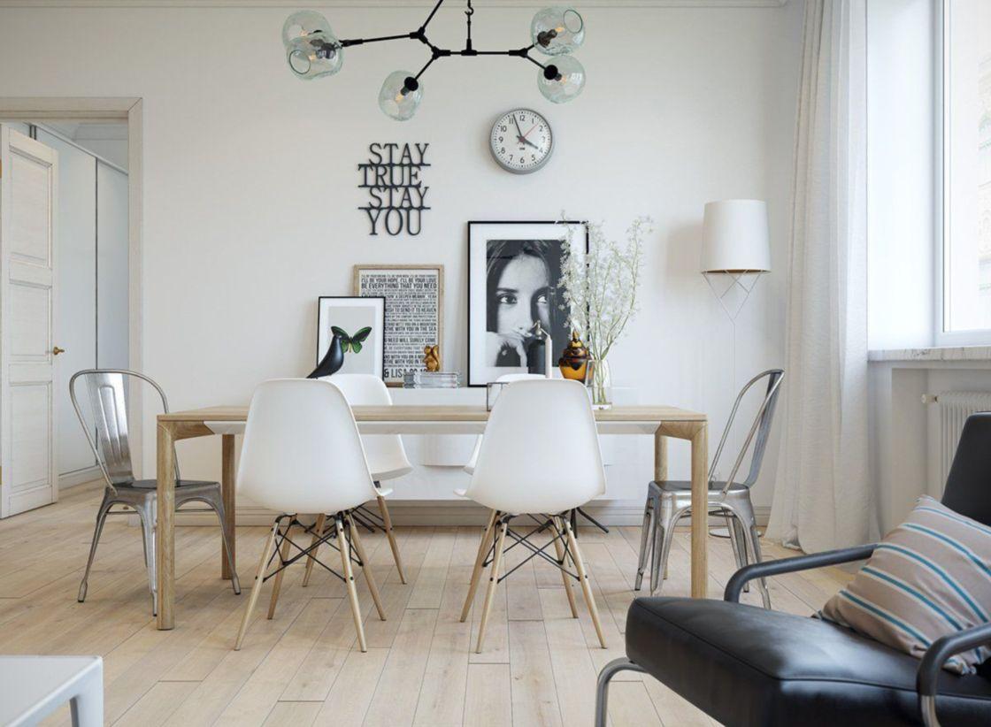 Luxury scandinavian taste dining room ideas (27)