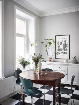 Luxury scandinavian taste dining room ideas (43)