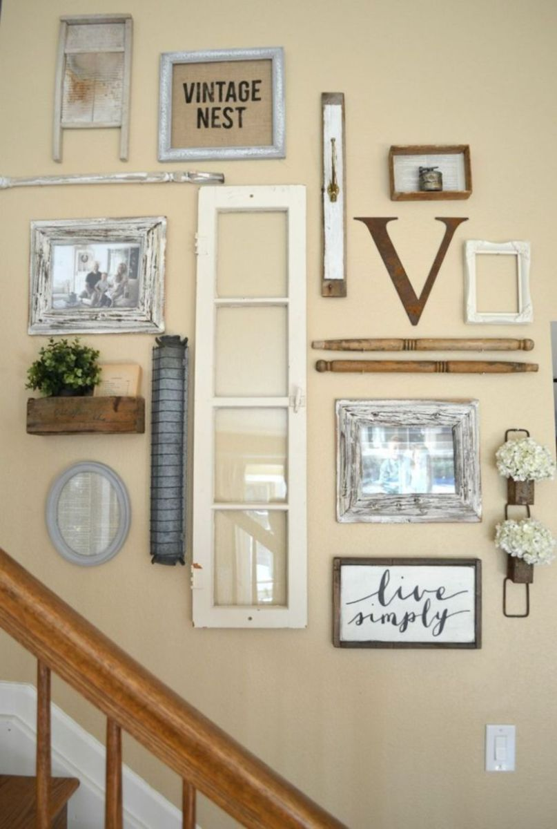 Simply and cozy farmhouse wall decor ideas (28)