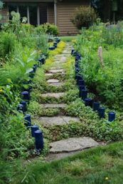 Awesome ways to creatively edge your garden 43