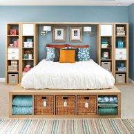 Genius stylish bedroom storage ideas 17