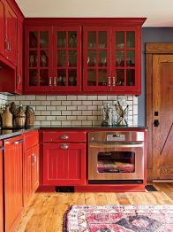 Well passionate red kitchen designs that you must see 03