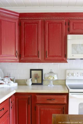 Well passionate red kitchen designs that you must see 19
